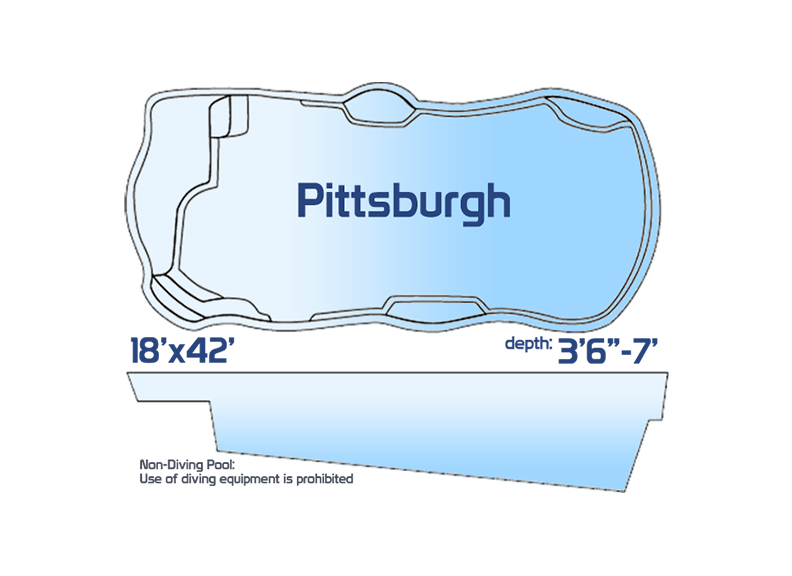 Pittsburgh jumbo inground fiberglass swimming pool