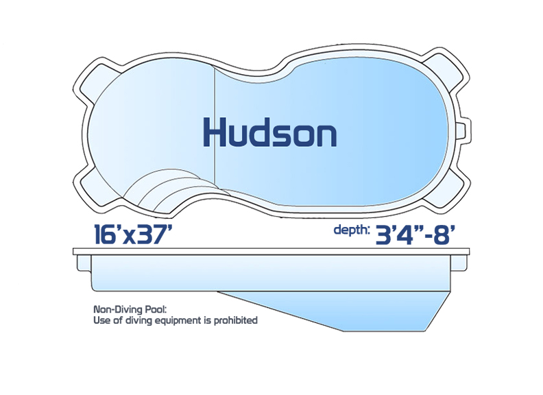 hudson large inground fiberglass swimming pool