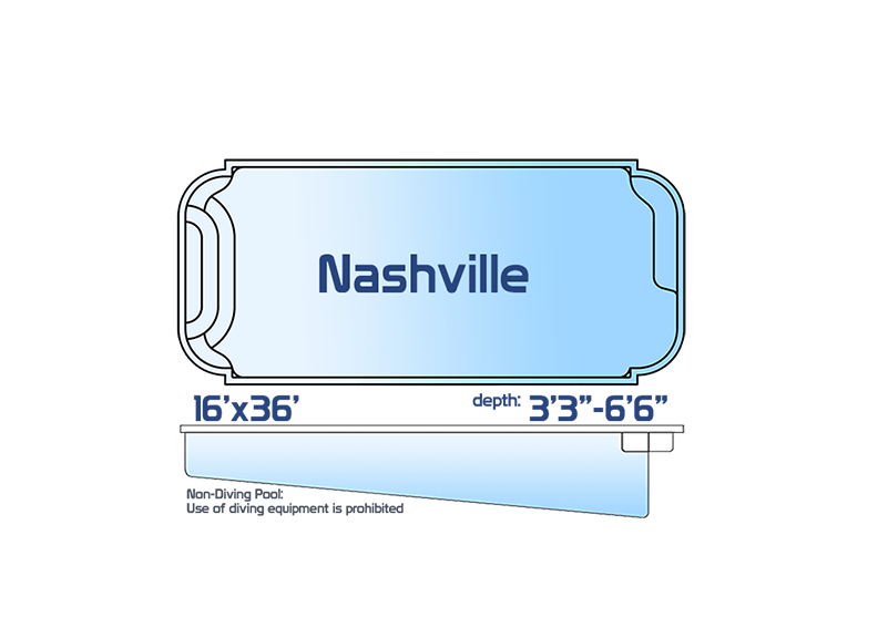 nashville large inground fiberglass swimming pool