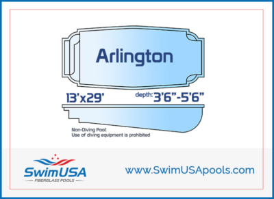 Swim USA Fiberglass Pools Arlington Medium inground classic fiberglass swimming pool