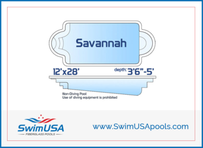 Swim USA Pools Savannah Small inground classic roman fiberglass swimming pool