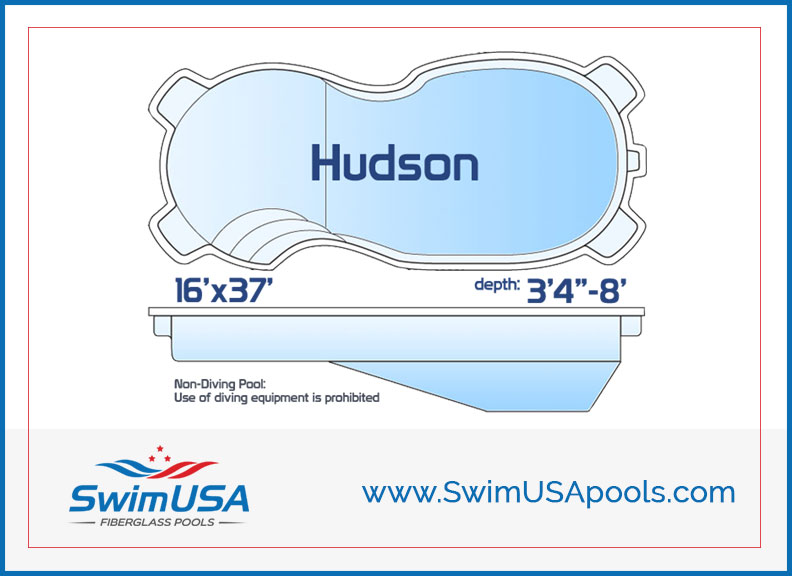 Swim USA Fiberglass Pools Hudson Large inground free form fiberglass swimming pool