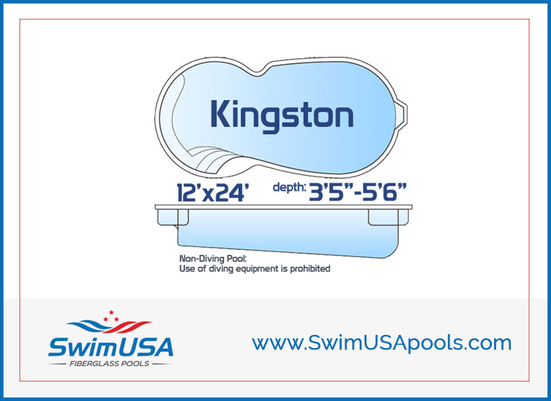 SwimUSA Pools Kingston Small inground Free Form fiberglass swimming pool