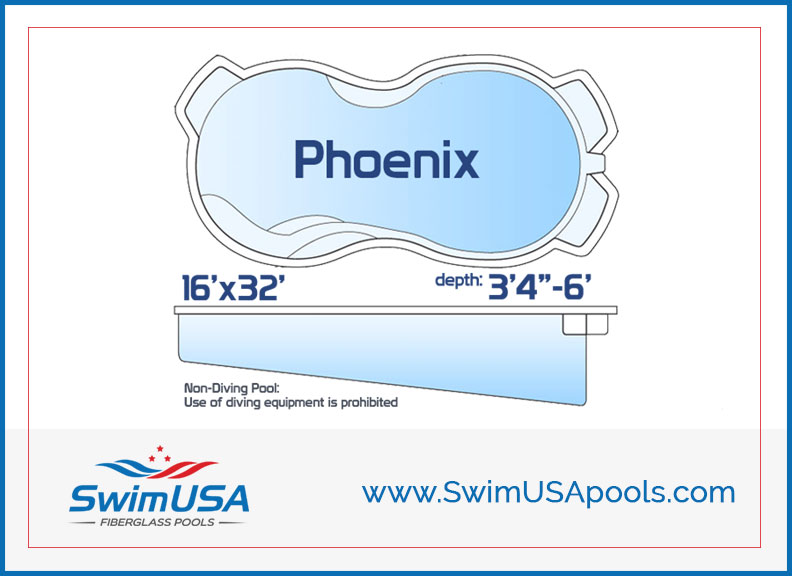 Swim USA Fiberglass Pools Phoenix Large inground free form fiberglass swimming pool