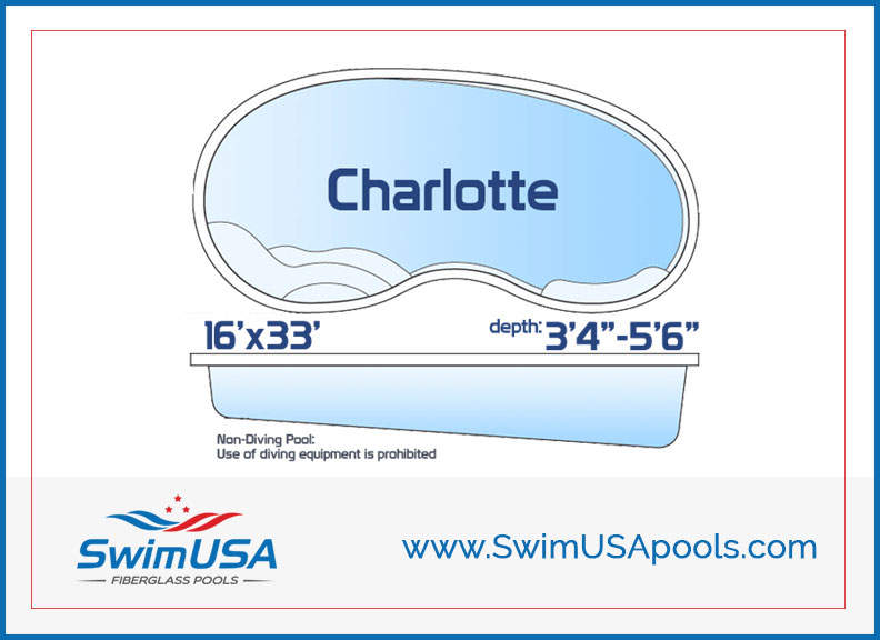 Swim USA Fiberglass pools Charlotte Large inground kidney fiberglass swimming pool