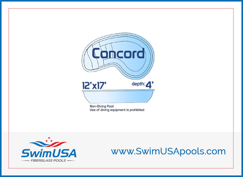 SwimUSA Pools Small inground kidney fiberglass swimming pool - Concord