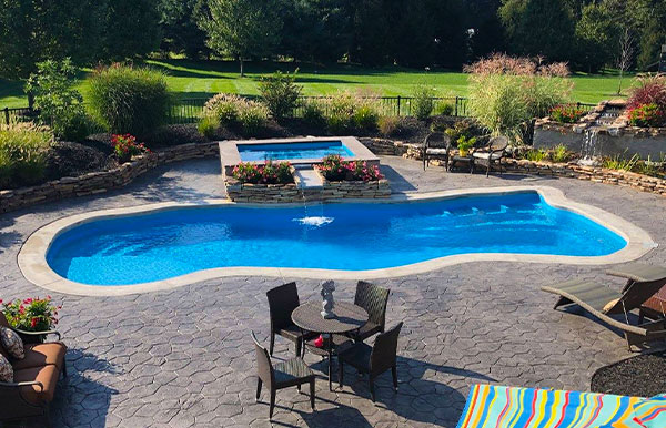natural fiberglass swimming pool designs
