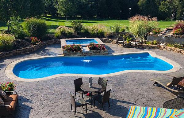 natural fiberglass swimming pool designs