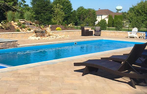 rectangle fiberglass swimming pool designs