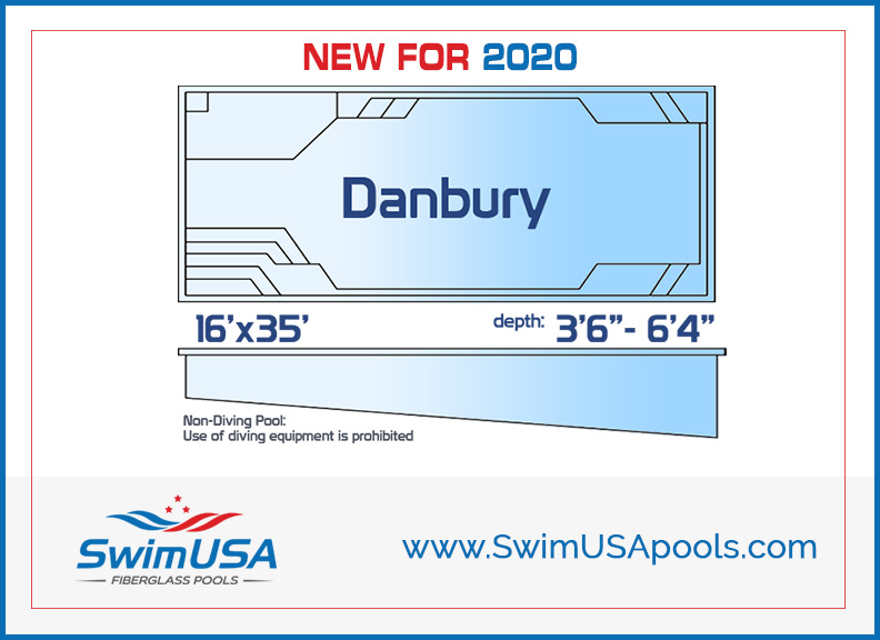 danbury fiberglass swimming pool